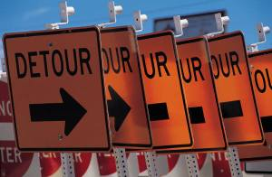 How do you manage a detour?